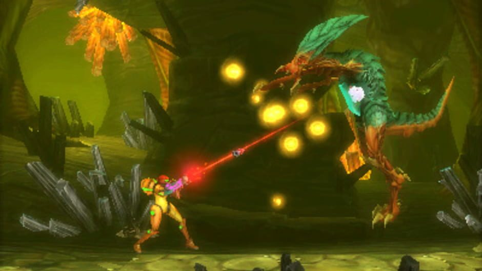 Metroids evolve over Samus' journey, providing new and greater challenges.