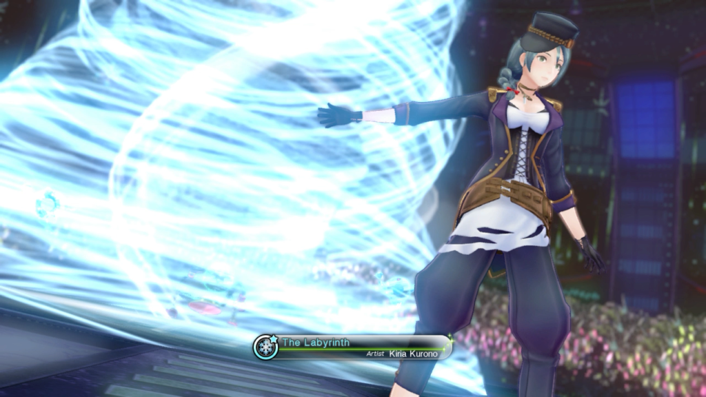 Kiria's attack is replaced by a musical performance that deals ice damage for some reason.