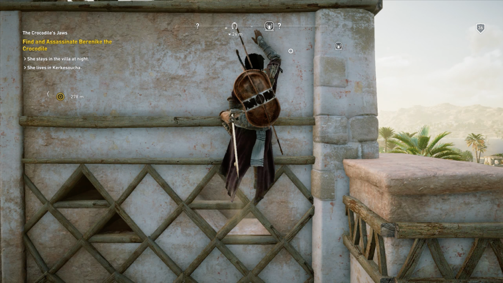Bayek still needs handholds to climb, but now almost everything is a handhold.