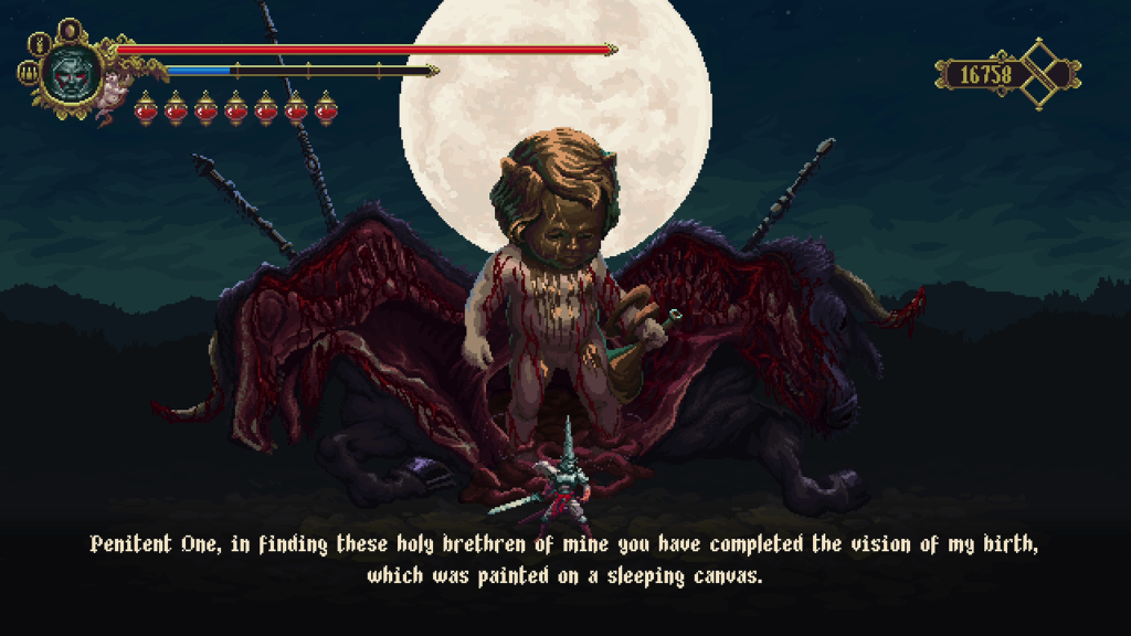 "Blasphemous' character design embodies the literal definition of ""grotesque."""